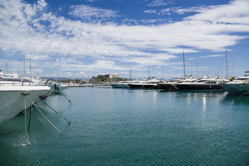 Antibes, France. Yachts in Port Vauban - 3