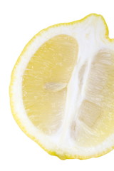close - up fresh lemon on white background