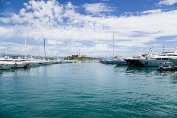 Antibes, France. Yachts in Port Vauban - 2