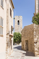 Antibes, France. Tower in old town
