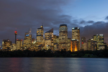 SYDNEY, NSW/Australia-June 17 : Cityscape of Sydney from Mrs Mac