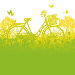 Fahrrad im Fahrradkorb
