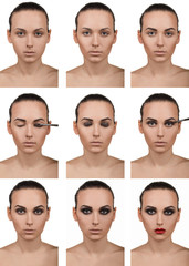 Stepping makeup. Nine steps. Smokey.