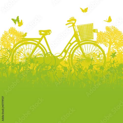 Fahrrad im Fahrradkorb - 67779727