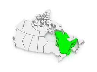 Map of Quebec. Canada.