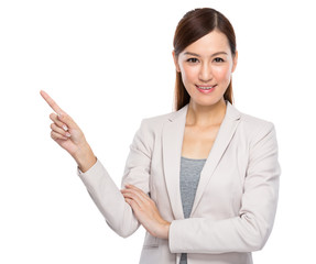 Asian Business Woman fingerup