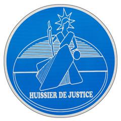 plaque ronde d'huissier de justice