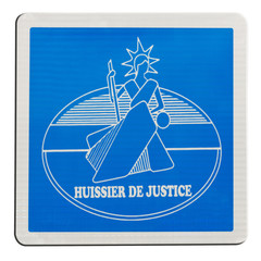 plaque d'huissier de justice