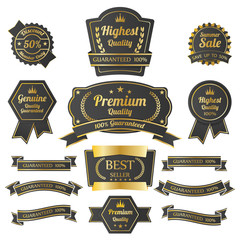 Vintage premium quality labels set.
