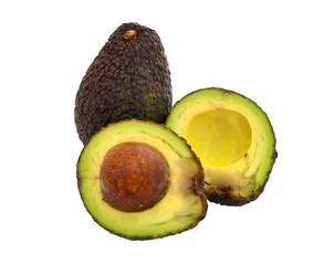 Avocado white background