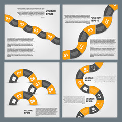 Set of Infographics vector design template.