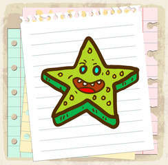 cartoon Starfish illustration