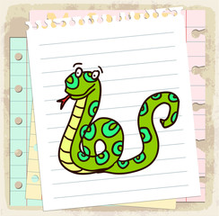 cartoon snake illustration