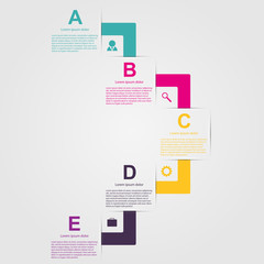 Creative colorful infographic in the form of ribbons.