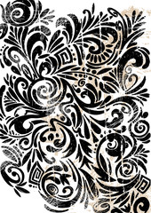 Black Ornate Background