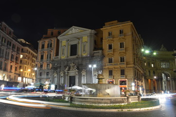 Night view over Teatro San Carlo in italian Naples.