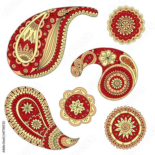 Henna Paisley Mehndi Vector Design Element. © juliasnegi