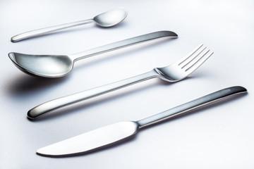 Eßbesteck Edelstahl gebürstet