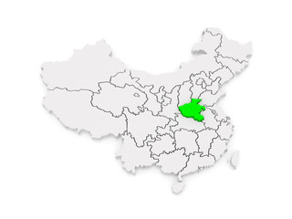 Map of Henan. China.