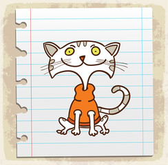 cartoon cat, illustration