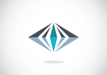 geometry diamond abstract logo