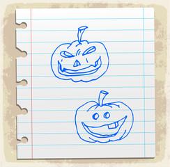 halloween cartoon pumpkin