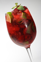 Cocktail - Raspberry with Mint