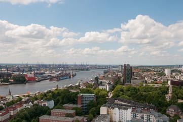 Hamburg Blick vom Sankt Michchaelis Kirche