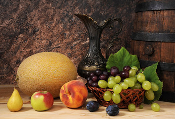 Wooden barrel for wine and fruit