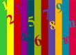 Bandes de couleurs et chiffres