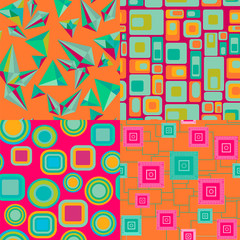 Set of Geometric pattern abstract Background - Illustration