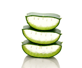 Aloe Cut stacked on a white background