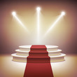 Illuminated stage podium for award ceremony vector - 67783595