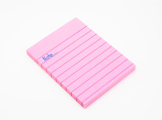 Book of Pink Note Paper