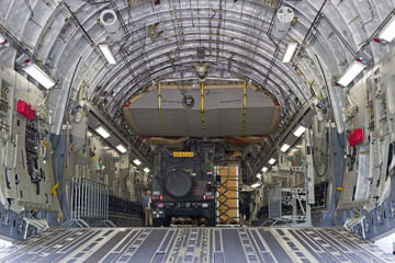 Transport plane interior