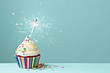 Celebration cupcake with sparkler - 67784754