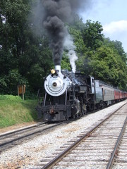 Steam Engine 90 with smoke
