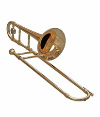 Trombone instrument isolated