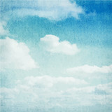 Fototapety Watercolor clouds and sky background