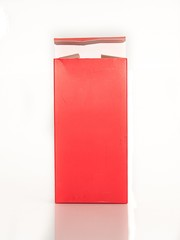 red paper box on white