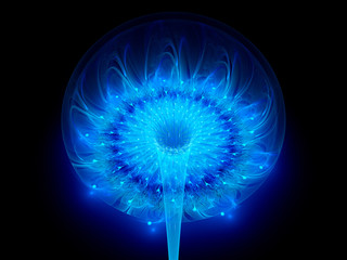Blue space flower