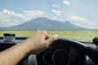 Driving to mountain