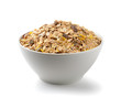 muesli breakfast placed on white background - 67787589