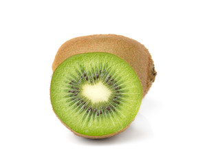 Kiwi fruits slice on white background