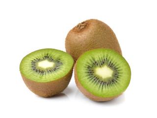 Kiwi fruits on white background