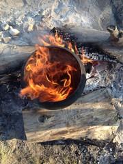 burning boiler