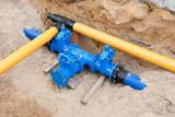 Arbeiten an der Gas- und Wasserversorgung