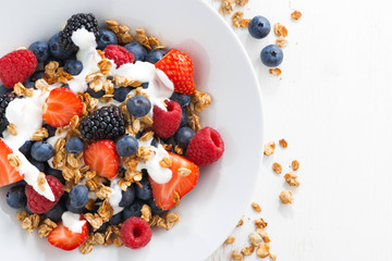 fresh berries, yogurt and homemade granola