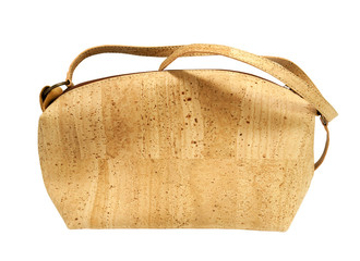 Beautiful Cork Handbag on a white background