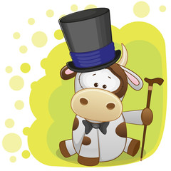Cow in hat